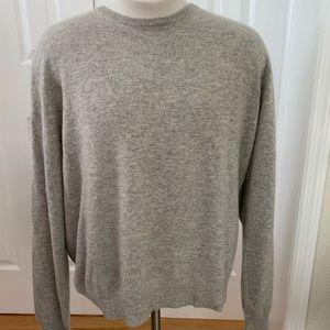 J Crew Italian Cashmere Grey Sweater